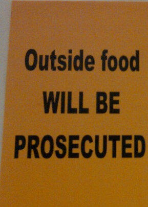 Outside Food not allowed in Mall
