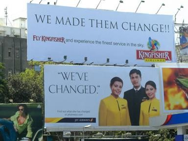 Kingfisher hoarding in Chennai