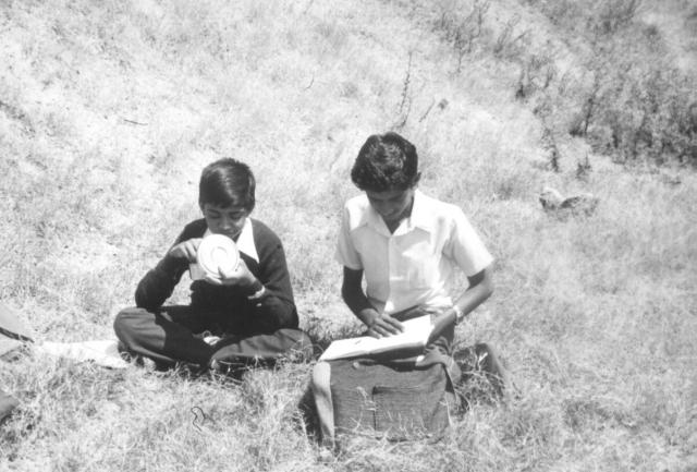 KVASC Bangalore, lunch in the gardens, 1982