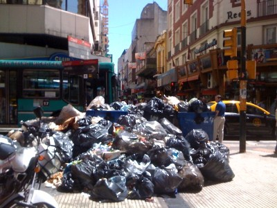 Uncleared garbage in BuenosAires, Argentina