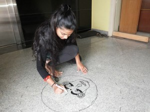Oneindia Onam 2013 Rangoli - getting the face right