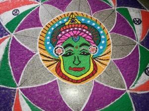 Oneindia Onam 2013 Rangoli - looks very good