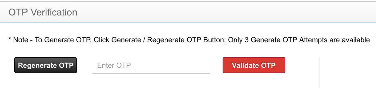 FASTtag OTP does not work