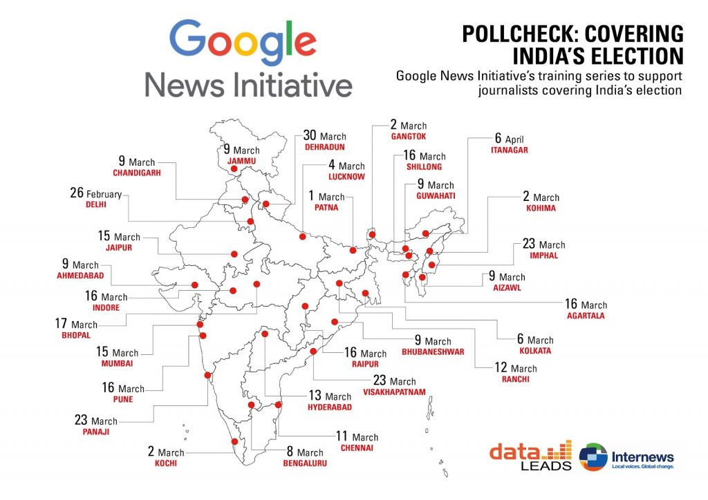 PollCheck: Covering India's Election, a training series to support journalists covering India's election.