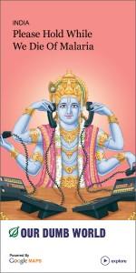 Hindu God in Telecom ad