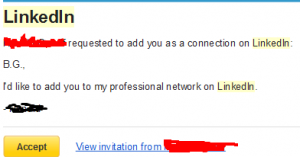 LinkedIn connect email