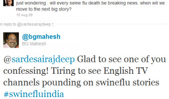 Swine Flu Tweets