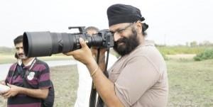 Tejinder Singh Rawal with one of his cameras