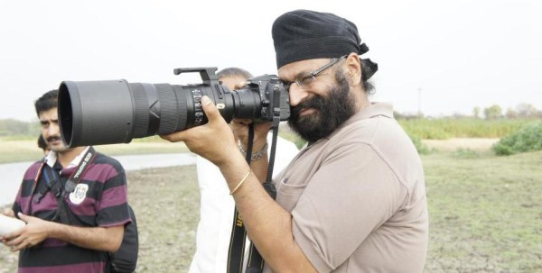 Tejinder Singh Rawal with one of his cameras