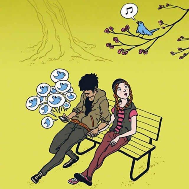 Tweeting in Park