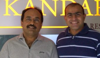 With Vikas Kamat in Bangalore on Jan 21, 2007