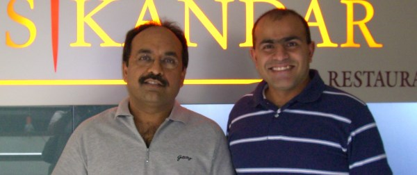 With Vikas Kamat in Bangalore on Jan 21, 2007