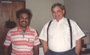 With my System Admin guru Bruce Williams in 1990
