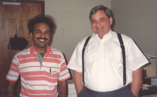 With my System Admin guru Bruce Williams in 1990